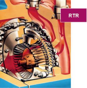 Паровая турбина с радиальным потоком пара