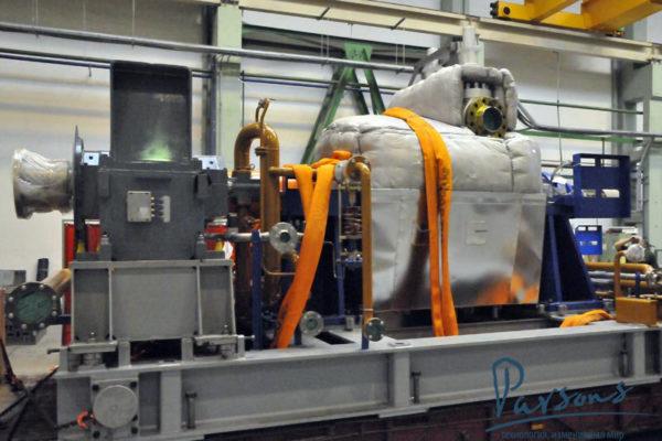 Паровая турбина на сахарном заводе Nile Sugar 8-24-350