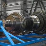 Паровая турбина в процессе производства